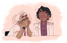 Photo of Cecil and Carlos for fans of Welcome to Night Vale. Source: http://airinn.tumblr.com/post/56834072803