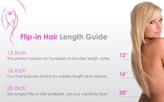 Flip-In Hair Extensions Hair Length Guide, Flip In Hair Extensions, Hair Flip, 100 Human Hair, Shoulder Length, Flipping, Hair Lengths, Cool Hairstyles, Natural Hair Styles