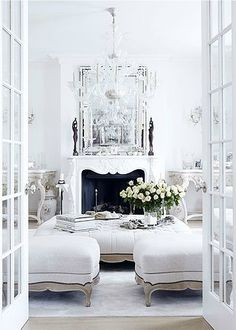All White Living Room Id Love To Have An Better Yet House