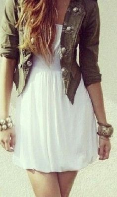 Spring//dress and jacket