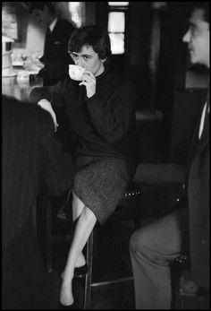 Françoise SAGAN 1958 by  Burt Glinn