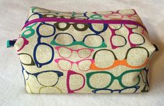 Cosmetic zippered box pouch by LexieLooo on Etsy https://www.etsy.com/listing/222914708/cosmetic-zippered-box-pouch