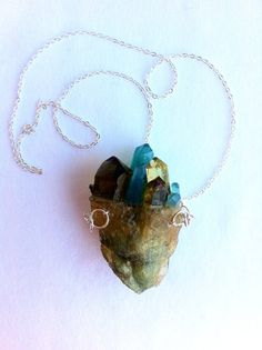 Turquoise & Topaz coloured HEART STONE Handmade by afWEARABLES, $90.00