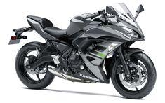 Descargar fondos de pantalla Kawasaki Ninja 650, ABS, 2018, el deporte de la motocicleta, gris Ninja 650, motos nuevas, Japonés de motocicletas, Kawasaki