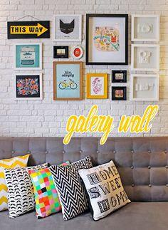 anne makeup®: mural de décor: gallery wall, tendência linda com ...