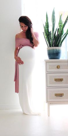 Gorgeous maternity gown! Perfect maternity dress for a baby shower. Click this pin to find it on Etsy! | Maternity gown / maternity dress / convertible baby shower dress- The fitted wrap dress ready to ship / maternity fashion / maternity outfit / maternity style / maternity clothes / maternity dress / #affiliate #babyshowerdress