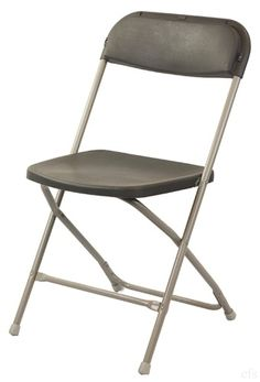 Charcoal Plastic Folding Chair   800 Lbs Test   Superior Quality   Call Liz  For Low