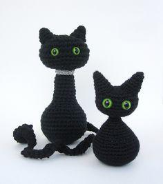 Ravelry: Cat or Kitten Amigurumi Halloween Decoration pattern by Celina Lane