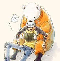 Trafalgar Law and Bepo -one piece One Piece Anime, One Piece Fanart, One Piece Images, One Piece Pictures, Manga Anime, 0ne Piece, Trafalgar Law, Nico Robin, Roronoa Zoro