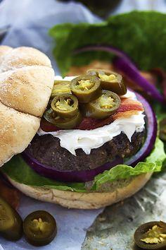 Jalapeno Popper Burgers  | Creme de la Crumb