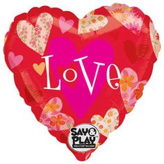 """32"""" Floral Hearts Love Say & Play"""