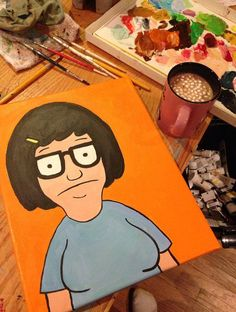 Tina Belcher from Bob's Burgers Painting by KimberlandArt on Etsy, $120.00