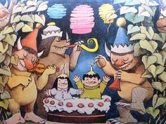 Vintage Maurice Sendak Poster Print  Happy Birthday by nitashmita