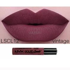 NYX-VINTAGE-LIQUID SUEDE CREAM LIPSTICK HTF!! Brand new sealed tube of NYX Liquid Suede Lipstick that goes on matte and lasts for hours!  This tube is Vintage.  HTF in stock! No PayPal. No Trades. No low ball offers. This listing is for one tube. NYX Makeup Lipstick