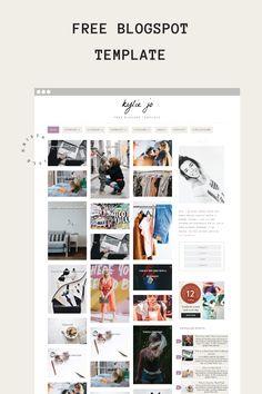 Free Blogspot Blogger Template - Kylie Jo | Design By Krista Business Tips, Online Business, Custom Web Design, Themes Free, Blogger Templates, Planner, Blogging For Beginners, Kylie, Mom Blogs