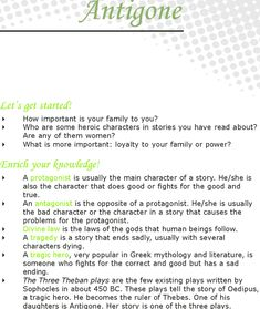 moral lessons in antigone Essays on major moral conflict in antigone we have found 500 essays on major moral conflict in antigone part preview when you finish antigone (section 2 of this lesson), you'll write an essay analyzing the causes and/or effects of an issue, situation.