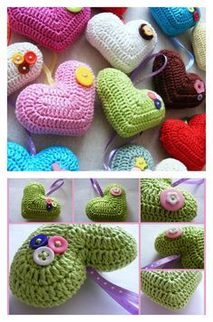 Crochet 3D Heart Free Pattern and Photo Tutorial