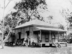 Pictures of Australia from 1868 Glasshouse Mountains, Paranormal Romance Series, People Poses, Crow's Nest, Front Steps, Side Window, Water Tank, Crows, Past