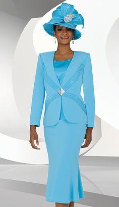 BM47702 ( 3pc PeachSkin Ben Marc Designer Sunday Suit )