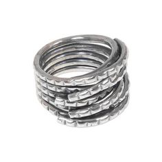 NOVICA Goth Style Wrap Ring Artisan Crafted Balinese 925 Jewelry ($39) ❤ liked on Polyvore featuring jewelry, rings, sterling silver, wrap, gothic jewelry, braided ring, novica rings, novica and wrap ring
