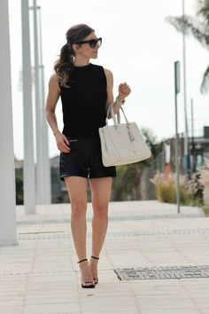 Zara Black Knit Stand Collar Tank