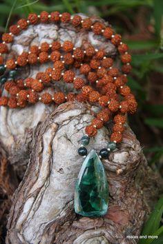 Malachite with Crysocolla Mala from malasandmore.com