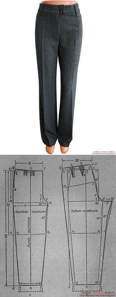 INSTRUCTIONS a drawing pattern of women's trousers classic models...♥ Deniz ♥