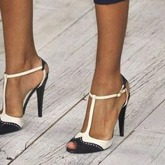 Graceful Peep Toe T-Straps Stiletto High Heels Sandals Hot High Heels, High Heels Stilettos, Womens High Heels, Women's Pumps, Shoes Heels, Buy Shoes, Red Stiletto Heels, Frauen In High Heels, Prom Shoes