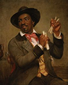 The Bones Player, one of three portraits of African-American musicians by William Sydney Mount