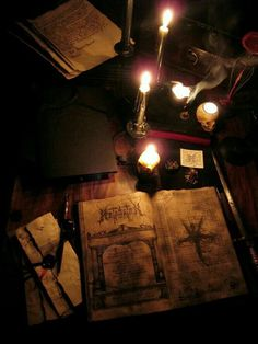 """"""" Image of a classic Grimoire. Wiccan, Witchcraft, Pagan, Magick Book, Arte Obscura, Witch Aesthetic, Necromancer, Coven, Book Of Shadows"""