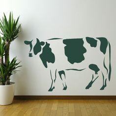 vache t te de vache pochoir en vinyle adh sif ref 143 d coration d 39 int rieur par. Black Bedroom Furniture Sets. Home Design Ideas