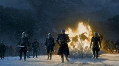 White Walkers attack the cave Night's King Night King