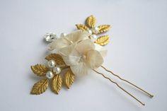 Bridal hair accessory Bridal hair flower Wedding hair by DecorUA