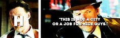 Harvey Bullock.- Gotham Bullock Gotham, Harvey Bullock, Gotham Quotes, A Good Man, Tv Series, Baseball Cards, Guys, Sons, Boys