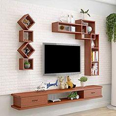 Tv Unit Furniture Design, Wall Mounted Media Console, Home Room Design, Living Room Design Modern, Tv Wall Design, Tv Room Design, Modern Shelving, Wall Mounted Tv Cabinet, Wall Tv Unit Design