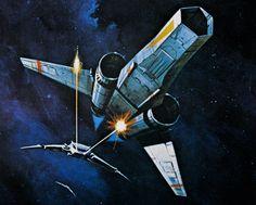 Ralph McQuarrie - Early concept art for Battlestar Galactica