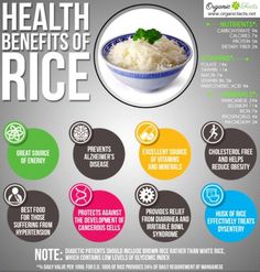 Health benefits of rice include providing fast and instant energy, good bowel… Benefits Of Rice, Matcha Benefits, Health Benefits, Health Tips, Health And Wellness, Health And Beauty, Pantothenic Acid, Risotto Recipes, Food Facts