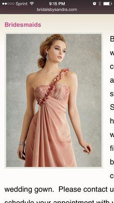 Bridesmaid dress found at Sandra's bridal
