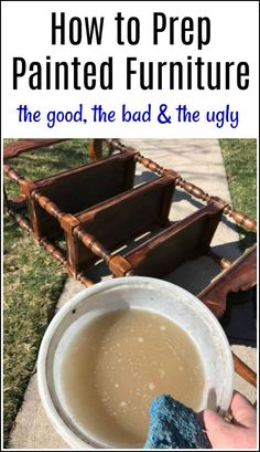 """Don't believe the """"no prep"""" for chalk type paint hype. See how to prep painted furniture the right way. After hundreds of painted furniture projects, this is my go-to method for every makeover"""
