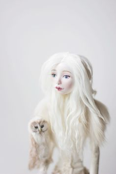 Art doll - White night. OOAK doll, handmade doll, fantasy doll, human figurine, collecting doll, sculptural figure, sculpted doll, by adelepo on Etsy https://www.etsy.com/listing/252492312/art-doll-white-night-ooak-doll-handmade