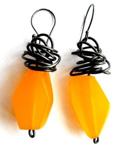 Items similar to Handmade, Summer Fun, butter yellow resin and steel earrings by Bolder and Beautiful for Etsy on Etsy Summer Fun, Jewelery, Resin, Butter, Trending Outfits, Unique Jewelry, Handmade Gifts, Drop Earrings, Steel