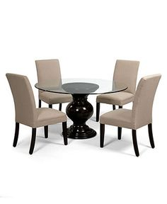 """Andorra Dining Room Furniture, 5 Piece Set (48"""" Table and 4 Warson Chairs) - Dining Room Furniture - furniture - Macy's"""