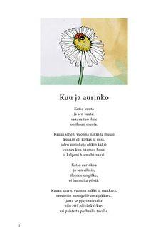 Kuu ja aurinko (Jari Tammi: Kakkikirja, Pikku-idis 2016) Finnish Language, Poetry, Poetry Books, Poem, Poems