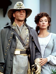 Orry and Madeline, Patrick Swayze and Lesley Anne Down in North and South Lisa Niemi, Dirty Dancing, Bambi, Patrick Swayze Movies, I Movie, Movie Stars, Patrick Swazey, North And South, Houston