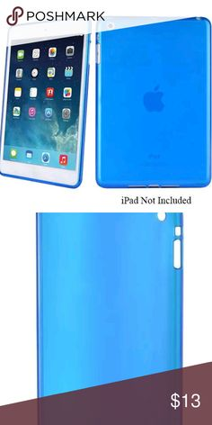 iPad Mini Slim Lightweight  Gloss Silicone case iPad Mini Slim Lightweight High Gloss Silicone Protective Cover Case - Teal Blue Accessories Tablet Cases