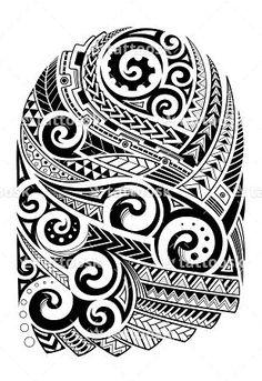 SBink Polynesian Tribal Half Sleeve Tattoo ❥❥❥ https://tattoosk.com/polynesian-tribal-tattoo