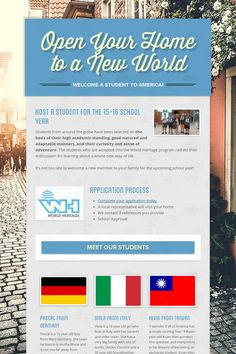 Open Your Home to a New World
