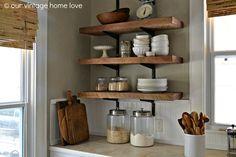 black walnut floating shelf 36 klc project 1 sourcing rh pinterest com wood kitchen wall shelf wood kitchen wall shelves with hooks