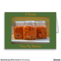 Blank Recipe Note Card