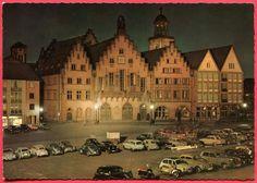 FRANKFURT . AUTOS  AUF  DEM  ROEMERBERG . ca 1962